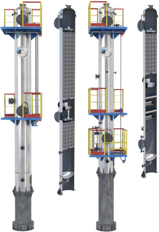 Массообменный колонный аппарат (диаметр до 1200 мм)