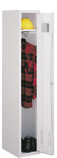 Однодверный металлический одежный шкаф Sum 310