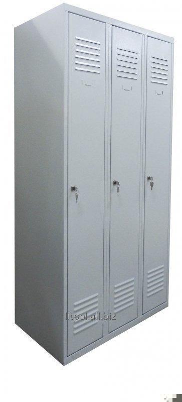 Гардеробный металлический шкаф на 3 отделения Sum 330