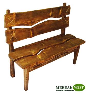 Скамейка под старину, Мебель дачная, садовая и парковая