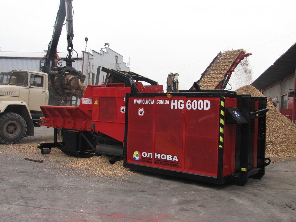 Деревоподрібнююча машина HG600D