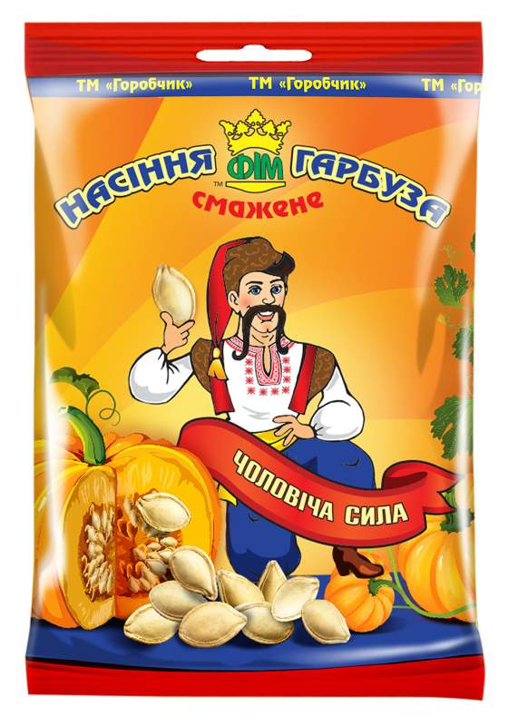 Pumpkin sunflower seeds fried 60 gr. From the Ukrainian producer!
