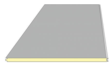 Buy Sandwich panel smooth surface, Inteco konstrakshn, Ukraine