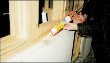 Акрилатный герметик Стиз-А, герметик для герметизации дверных и оконных проемов