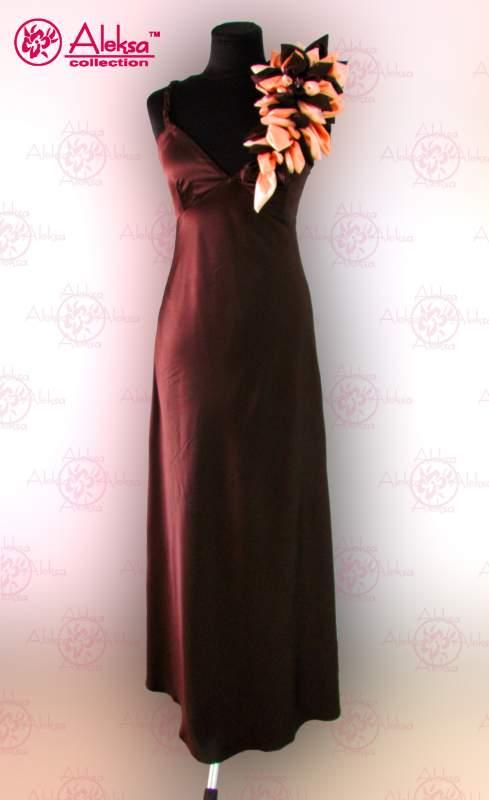 Плаття вечірнє атласне в підлогу купити в Київ 03218c9e57fb1