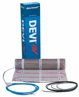 Devimat.Нагрівальний мат з тефлоновим ізоляцією двожильний екранований DEVImatTM DTIF - 150