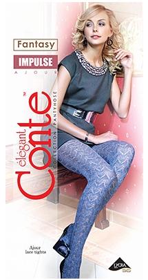 Buy Ajour Impulse Warm openwork women's tights from cotton, effect 3D