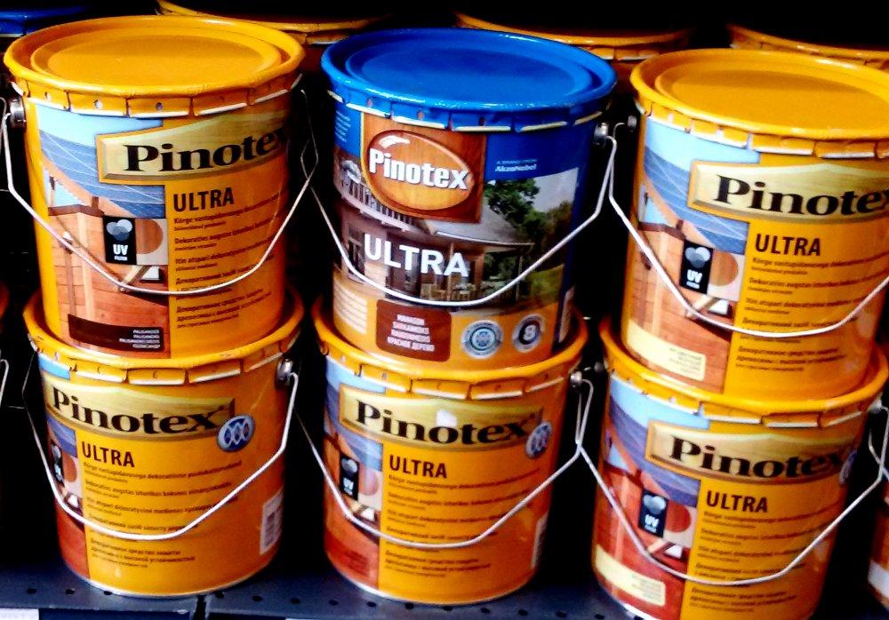 Купити Пинотекс ультра PINOTEX ULTRA10л/1500 Високоустойчивое декоративний засіб для захисту деревини. Містить УФ фільтр і фунгіциди. Добре прилипає до поверхні деревини.