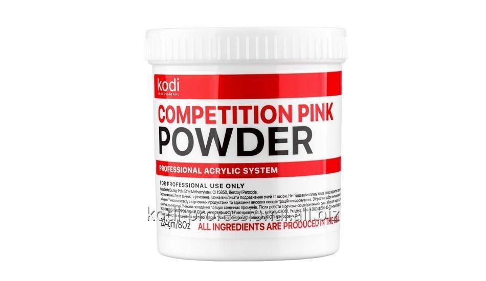 Competition pink Kodi professional 224 гр. быстроотвердеваемый розово-прозрачный акрил
