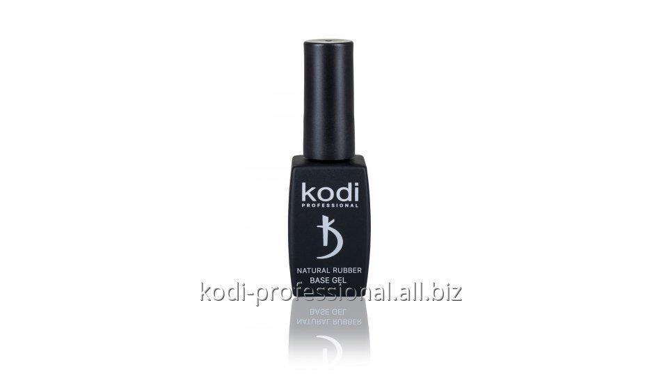 Купить Natural Rubber Base - Dark Beige 12 ml - Каучуковая камуфлирующая основа для гель лака Kodi professional