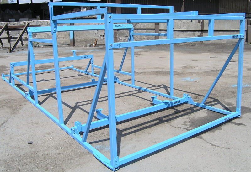 Production of metal structures for agriculture