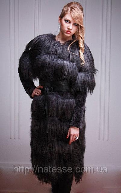"""Меховое пальто-жилет из яка и мутона """"астраган"""" Tibet-lamb-and-mouton fur coat and vest"""