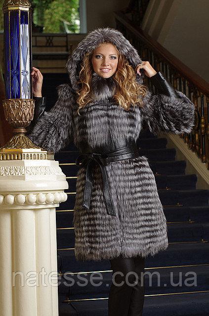 Меховое пальто жилет жилетка из чернобурки convertible silver fox fur coat vest
