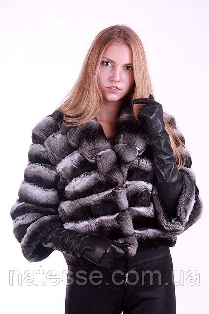 Полушубок из шиншиллы с отложным воротником chinchilla fur coat fur-coat with flexible pop up collar