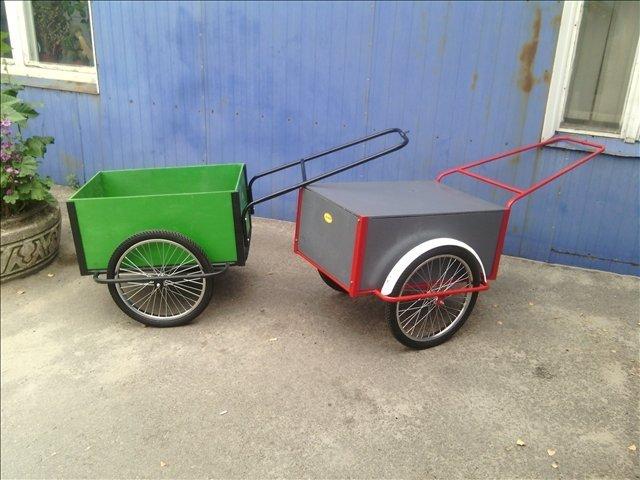 Тележка тачка с велосипедными колесами
