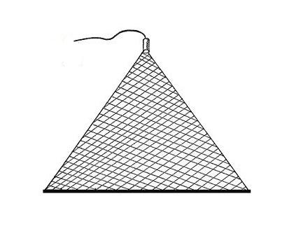 Косынка рыболовная оснащенная 1,2х0,9 м, ячея 20 мм