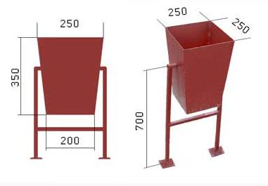 Урни напольного кріплення - виробництво