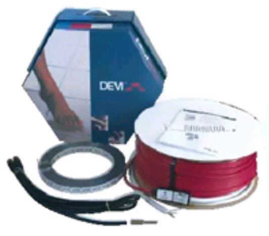 """Deviflex. Набор для системы """"Теплый пол"""" с нагревательным кабелем, монтажной лентой и гофротрубкой DEVIflexTM DTIP-18"""