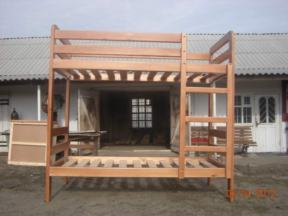 Купить Деревянная двухярусная кровать