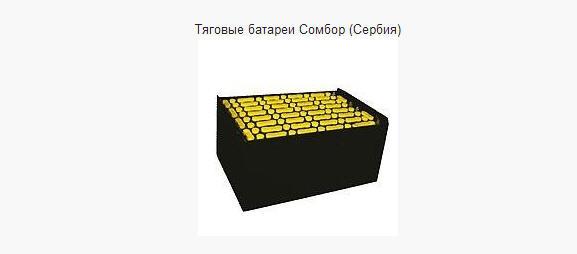 Тяговые батареи для погрузчиков Сомбор (Сербия)