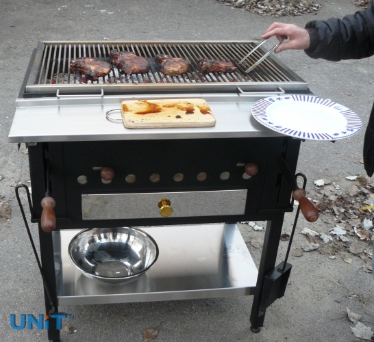 Buy Grill with adjustable brazier 840х540х400