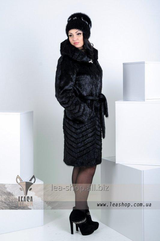 Buy Fur coat from a nutria with a figured hairstyle