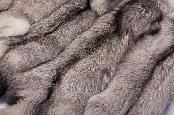 Las pieles del zorro polar curtido polaco, finlandés, ucranian