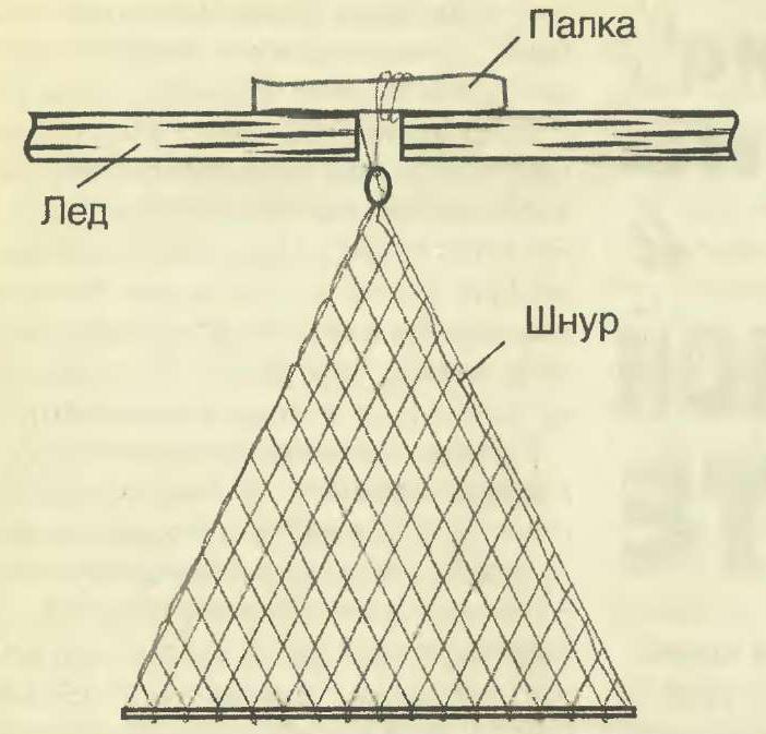 Косынка рыболовная оснащенная 1,2х0,9 м, ячея 30 мм
