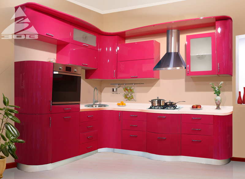 Buy Kitchens from a colored mdf CALL (glossy Cuisines of Belarus)