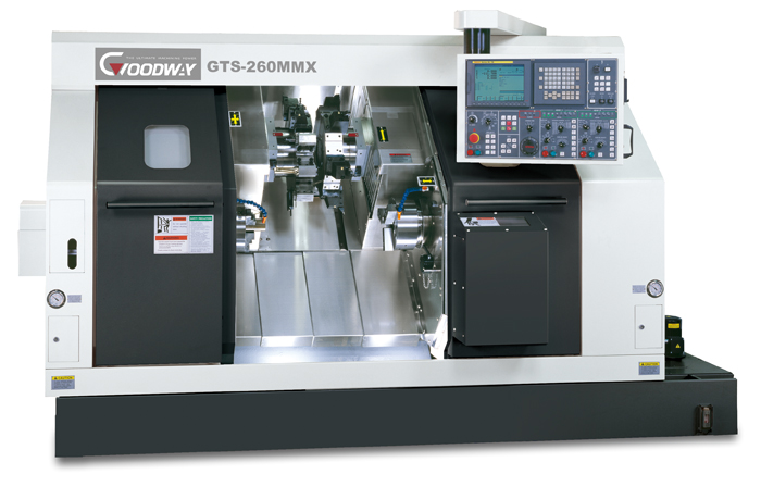 The dvukhshpindelny lathe two-revolving Goodway GTS-200X with ChPU Fanuctokarny the processing Goodway GTS-200X center
