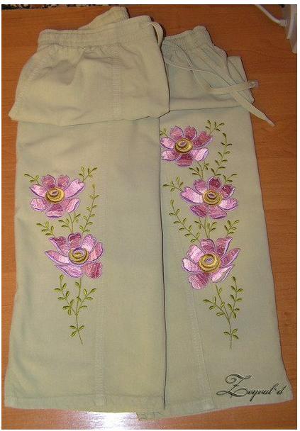 Купить Украшение одежды с помощью машинной вышивки 006ф