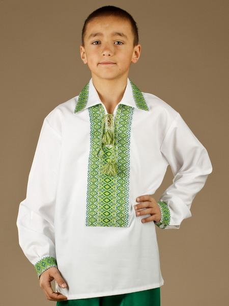 Детская рубашка-вышиванка ЧС 4-15s