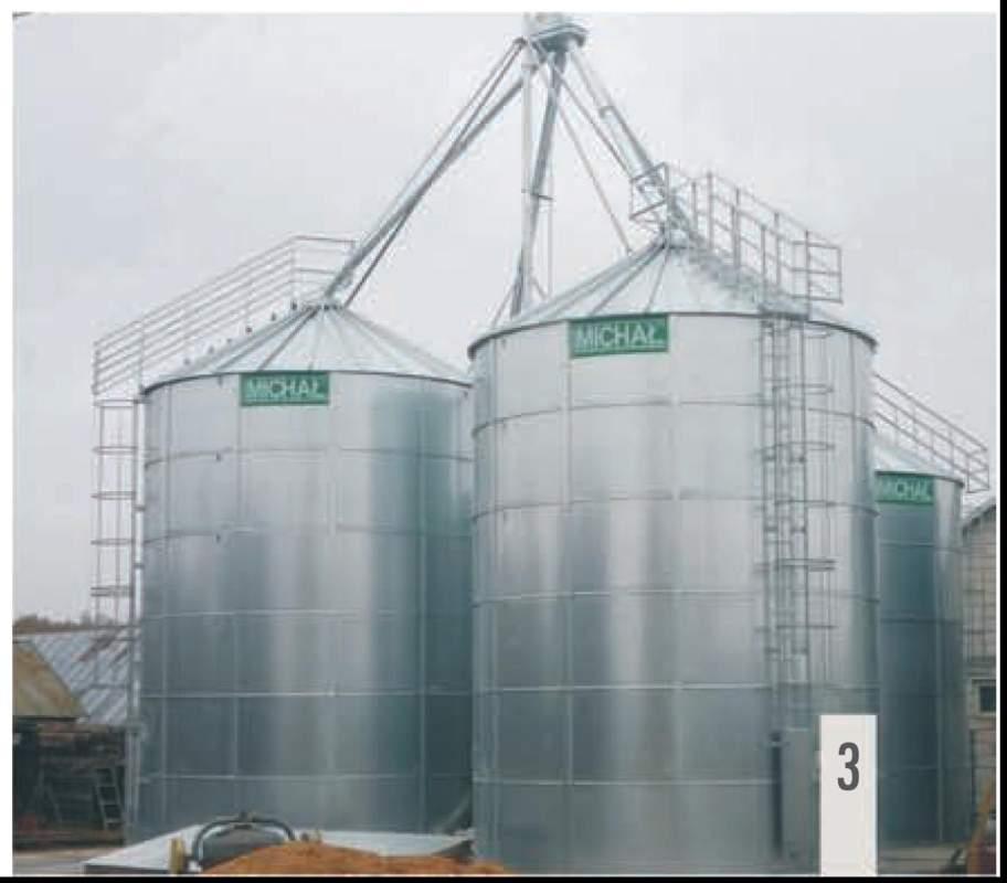 Силос хранения зерна плоскодонный