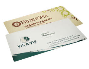 Production Of Business Cards Of A Representative Class Types Of