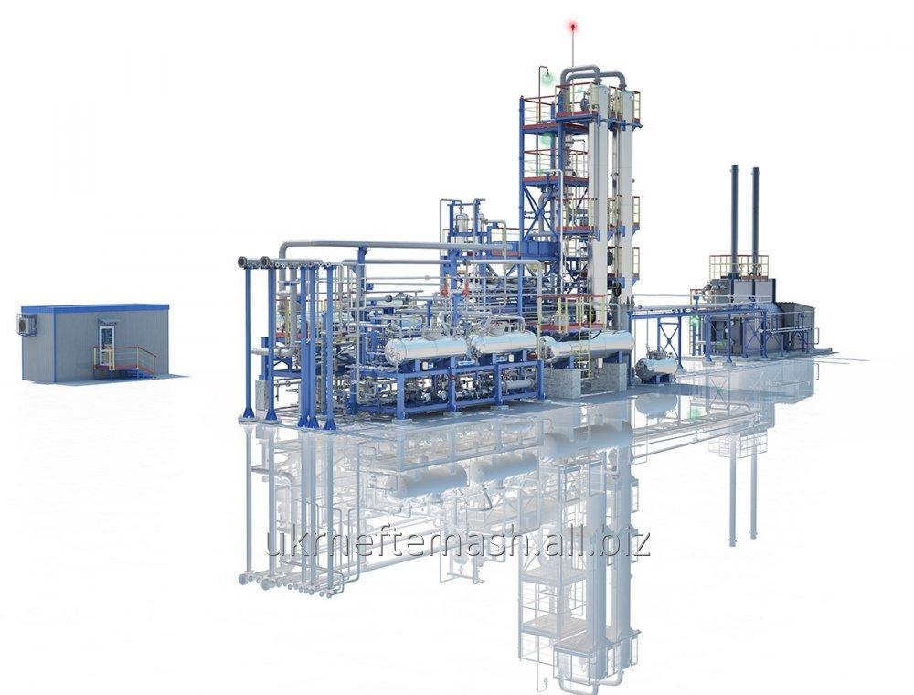 Установка атмосферной разгонки нефти