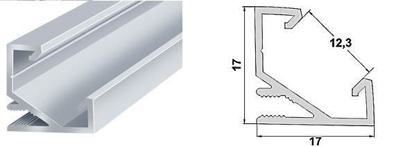 Buy Profile for a LED tape angular LPU-17