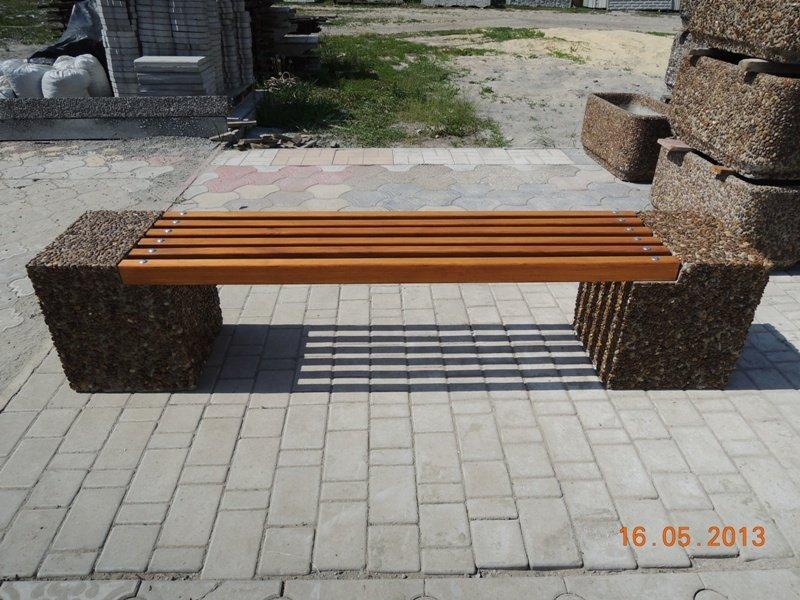 Скамейка из бетона и натурального камня, фактура 011. заказать в харькове по договорной цене в Харькове, Украина