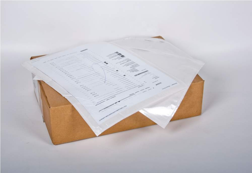 Packaging materials. The envelope is self-adhesive