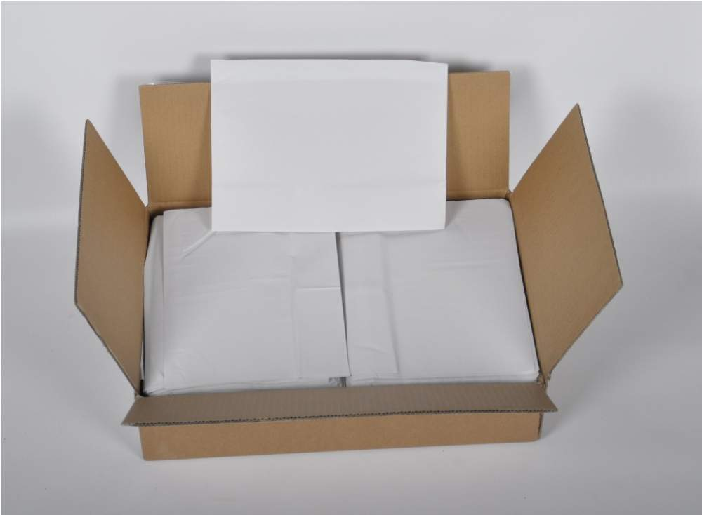 Self-adhesive package envelope for the accompanying documentation