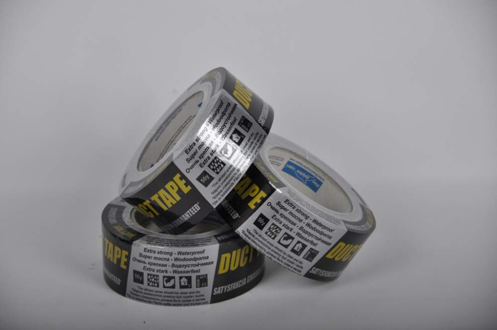 Adhesive tape reinforced (duct tape)