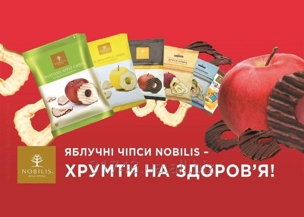 Купить Чипсы яблочные Голден,Старкинг,Джонатан (Nobilis) 50г. и 20г. без ГМО