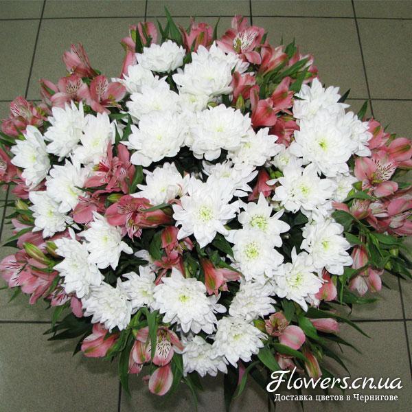 Букет хризантема и альстромерия