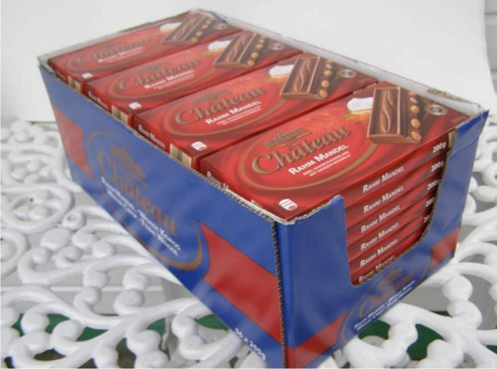 Немецкий  молочный  шоколад  с миндалем Chateau Rahm Mandel оптом