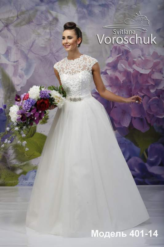 Wedding dress, model 401 (with overskirt) SALE