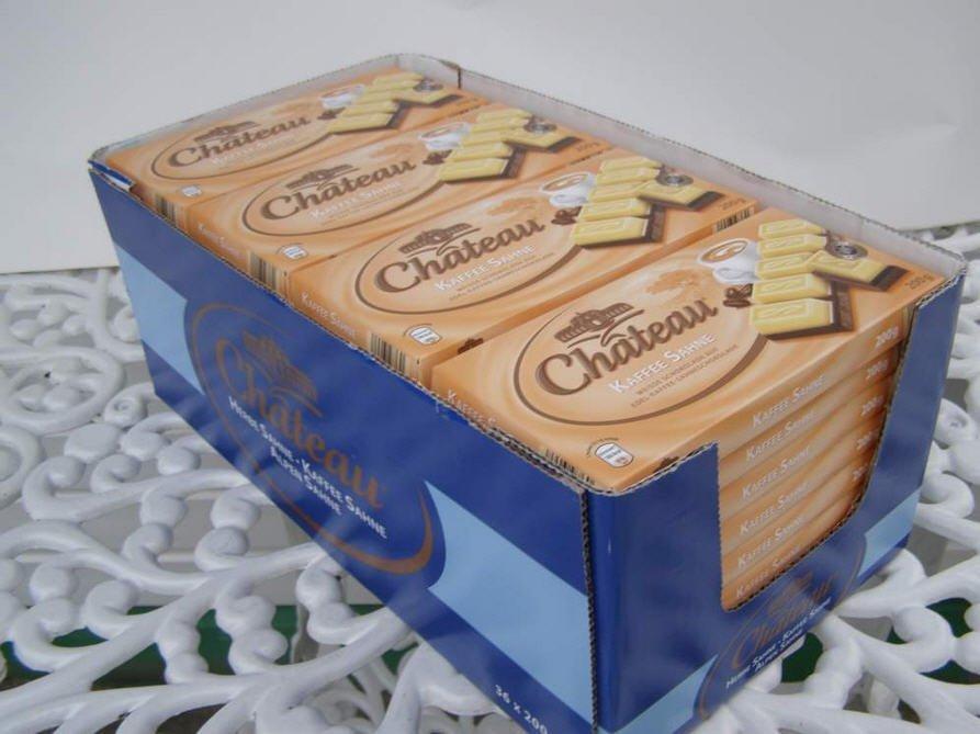 Белый немецкий шоколад   с кофейным вкусом Chateau Kaffee Sahne, 200г, опт