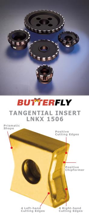 Тангенциальная система фрез Iscar TangMill с пластинами типа LNKX