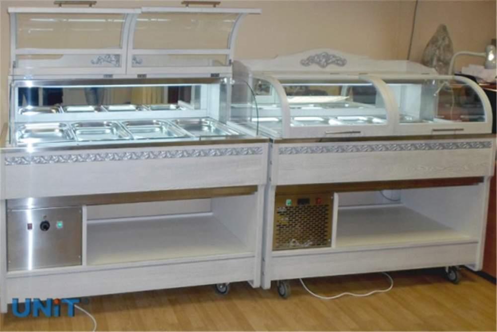Холодильная витрина Buffet EXCХLUSIVE, тепловая и нейтральная витрина