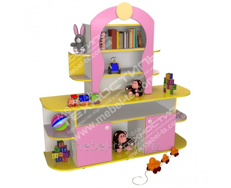 """Стенка для пособий и игрушек """"Книжный дом"""""""
