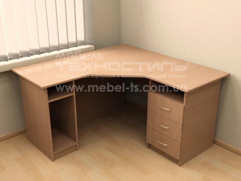 Стол угловой компьютерный с ящиками (П 644)