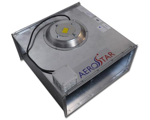 Промышленная вентиляция  Оборудование прямоугольных каналов  Вентиляторы  Вентиляторы с лопатками загнутыми вперед серии SVF Aerostar  Канальный вентилятор серии SVF 90-50/45-4D Aerostar